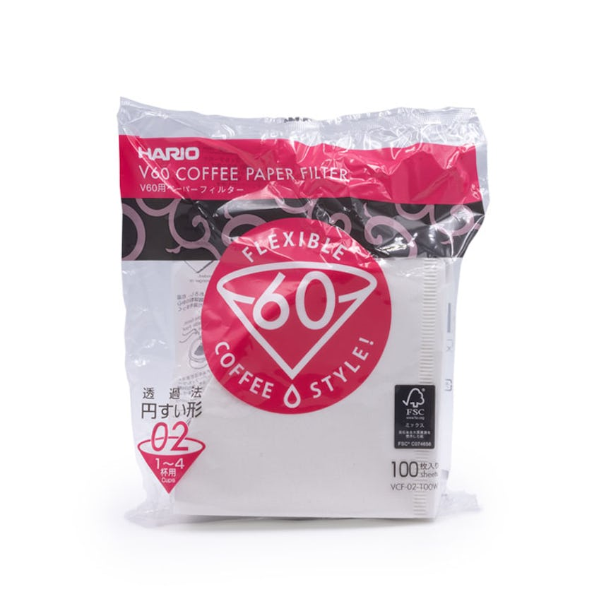 Hario V60 Filter Papers (Size 02 – 100 pack)